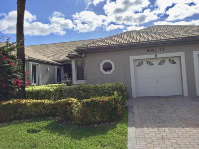 Delray Beach Single Family Home For Sale: 5375 Monterey Circle #H