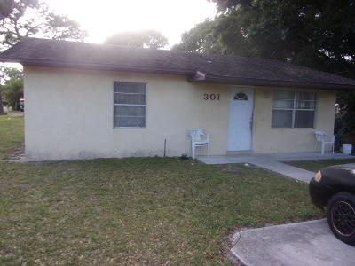 Fort Pierce FL Single Family Home For Sale: $100,000