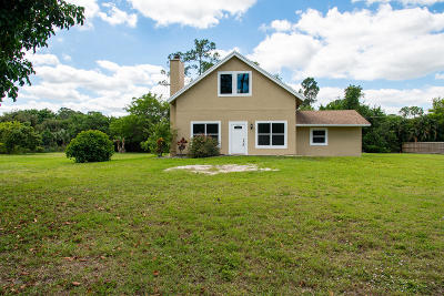 Loxahatchee Single Family Home For Sale: 16394 E Alan Black Boulevard