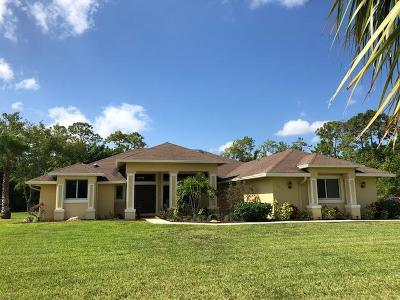 Loxahatchee Single Family Home For Sale: 14918 Temple Boulevard