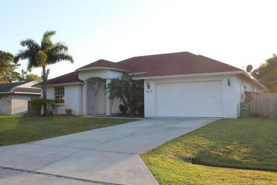 Port Saint Lucie FL Single Family Home For Sale: $285,000