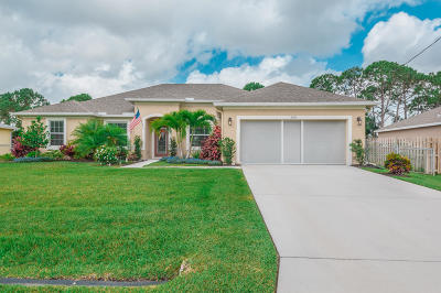Port Saint Lucie Single Family Home Contingent: 3572 SW Pisano Street