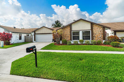 Boca Raton Single Family Home Contingent: 11654 Quiet Waters Lane