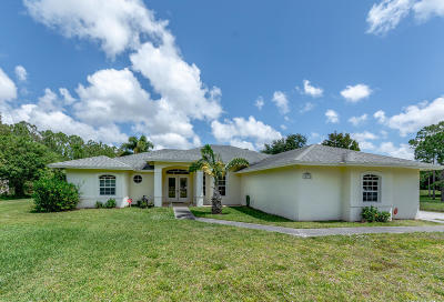 Jupiter Single Family Home For Sale: 12397 185th Street