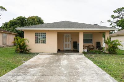 Jupiter Single Family Home For Sale: 6712 2nd Street