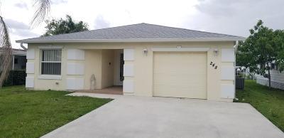 Port Saint Lucie Single Family Home For Sale: 248 Camino Del Rio
