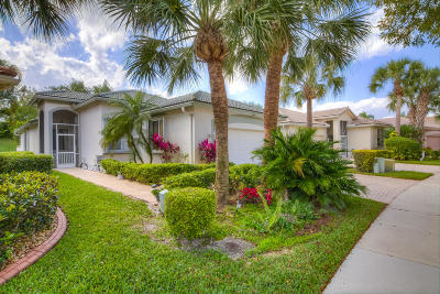 West Palm Beach Single Family Home Contingent: 9188 Bay Point Circle