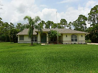 Loxahatchee Single Family Home For Sale: 17429 68th Street