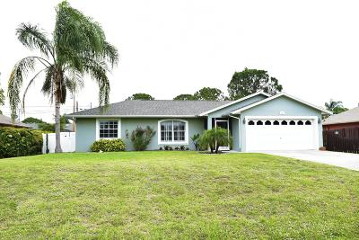 Port Saint Lucie Single Family Home For Sale: 1995 SW Logwood Road