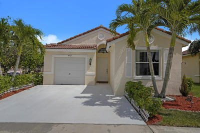 Lake Worth Single Family Home Contingent: 8044 Pelican Harbour Drive