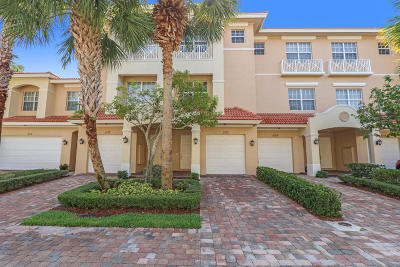Palm Beach Gardens Townhouse For Sale: 5110 Artesa Way W