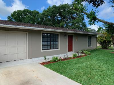 Port Saint Lucie Single Family Home For Sale: 790 NW Airoso Boulevard