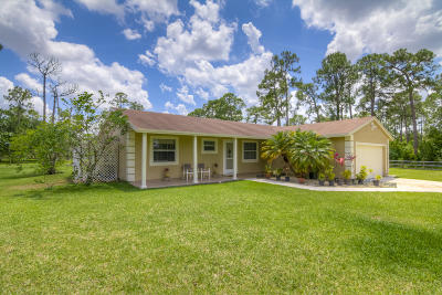 Loxahatchee Single Family Home Contingent: 17684 86th Street
