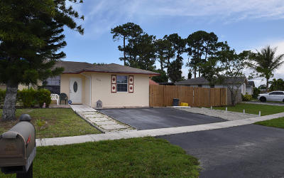 West Palm Beach Single Family Home For Sale: 5244 Cannon Way
