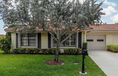 Boynton Beach Single Family Home For Sale: 4525 Nutmeg Tree Lane #A