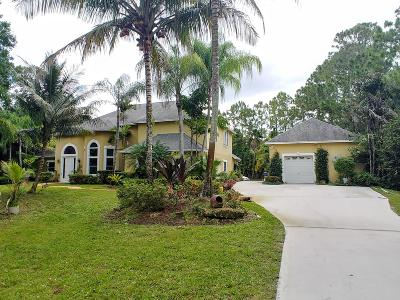 Jupiter Single Family Home For Sale: 12307 169th Court
