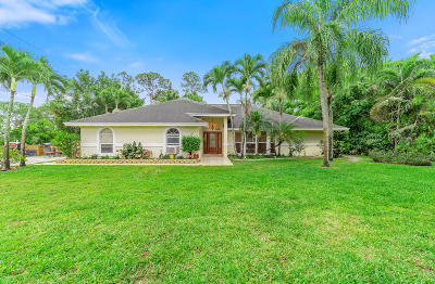 Jupiter Single Family Home For Sale: 15451 129th Place