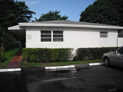 Fort Lauderdale Rental For Rent: 630 SW 7th Avenue #1-2