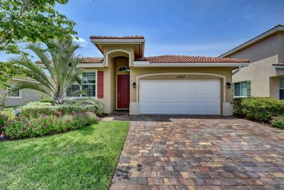 Lake Worth, Lakeworth Single Family Home For Sale: 4824 Foxtail Palm Court