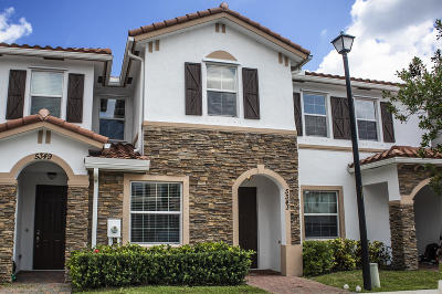 West Palm Beach Townhouse For Sale: 5343 Ashley River Road