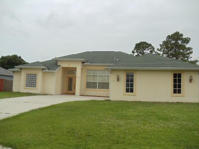 Port Saint Lucie Single Family Home For Sale: 4070 SW Haycroft Street