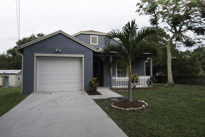 Fort Pierce Single Family Home For Sale: 2870 Dame Road