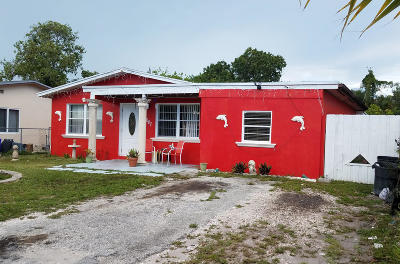 Lake Worth Single Family Home For Sale: 4087 Fern Street