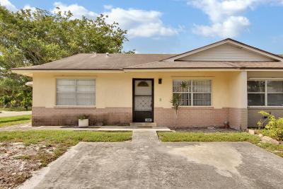 West Palm Beach Single Family Home For Sale: 3882 Chapel Street
