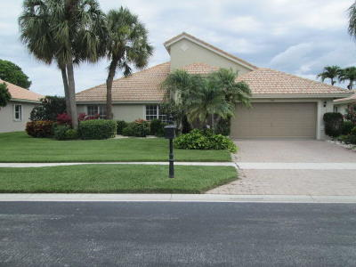 Boynton Beach Single Family Home Contingent: 7367 Falls Road W