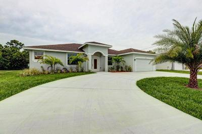 Port Saint Lucie Single Family Home For Sale: 3850 SW Bamberg Street