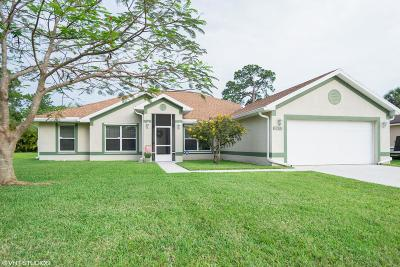 Port Saint Lucie Single Family Home For Sale: 2677 SW Acco Road