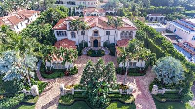 Palm Beach FL Single Family Home For Sale: $12,995,000