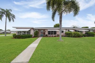 delray beach Single Family Home For Sale: 140 High Point Boulevard #B
