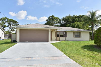 Port Saint Lucie Single Family Home For Sale: 635 SW Todd Avenue
