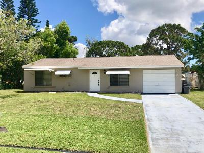 Port Saint Lucie Single Family Home For Sale: 233 SW Cherryhill Road