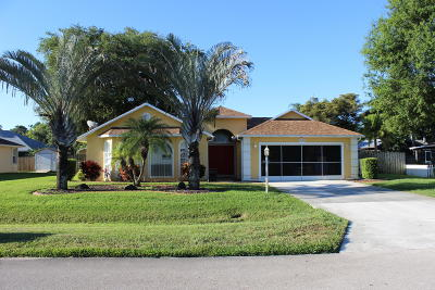 Fort Pierce Single Family Home For Sale: 4803 Eagle Drive