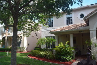 Palm Beach Gardens Townhouse For Sale: 8068 Murano Circle