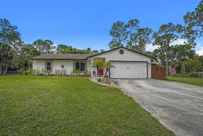 Loxahatchee Single Family Home For Sale: 17454 46th Court