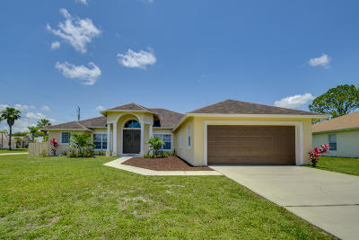 Port Saint Lucie Single Family Home For Sale: 5798 NW Coosa Drive