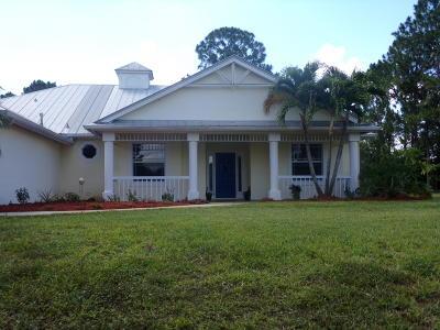 Port Saint Lucie Single Family Home For Sale: 544 SW Leona Drive