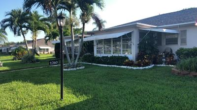 Delray Beach Single Family Home For Sale: 1260 Club Drive W #B