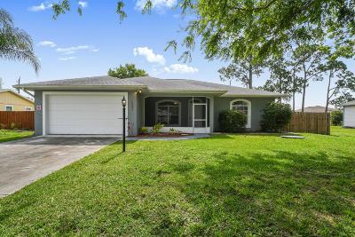 Port Saint Lucie Single Family Home For Sale: 1351 SW Heather Street