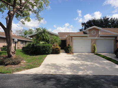 Boca Raton Single Family Home For Sale: 8293 Springtree Road #A