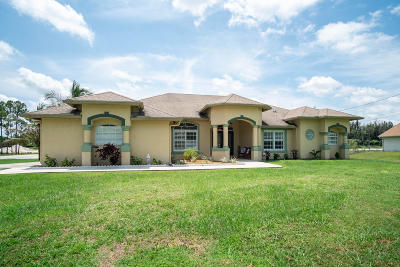 West Palm Beach Single Family Home For Sale: 11546 61st Street