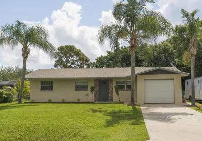 Fort Pierce Single Family Home For Sale: 6008 Palm Drive