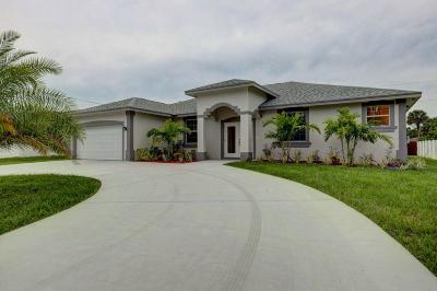 Port Saint Lucie Single Family Home For Sale: 3834 SW Bamberg Street SW