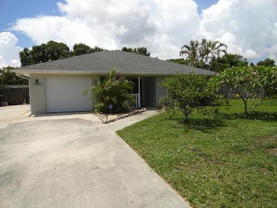 Fort Pierce Single Family Home For Sale: 1007 Barbados Avenue