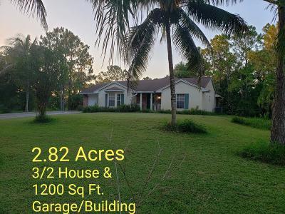 Loxahatchee Single Family Home For Sale: 17043 71st Lane