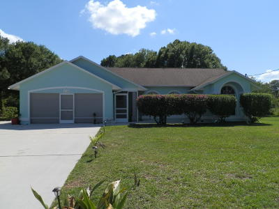 Port Saint Lucie Single Family Home For Sale: 1662 SW Flint St Street