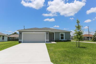 Port Saint Lucie Single Family Home For Sale: 498 SW Dailey Avenue